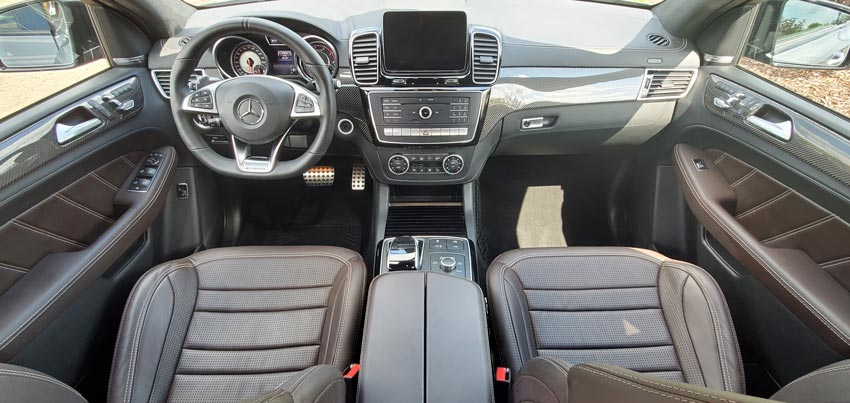 interior detailing of a mercedes