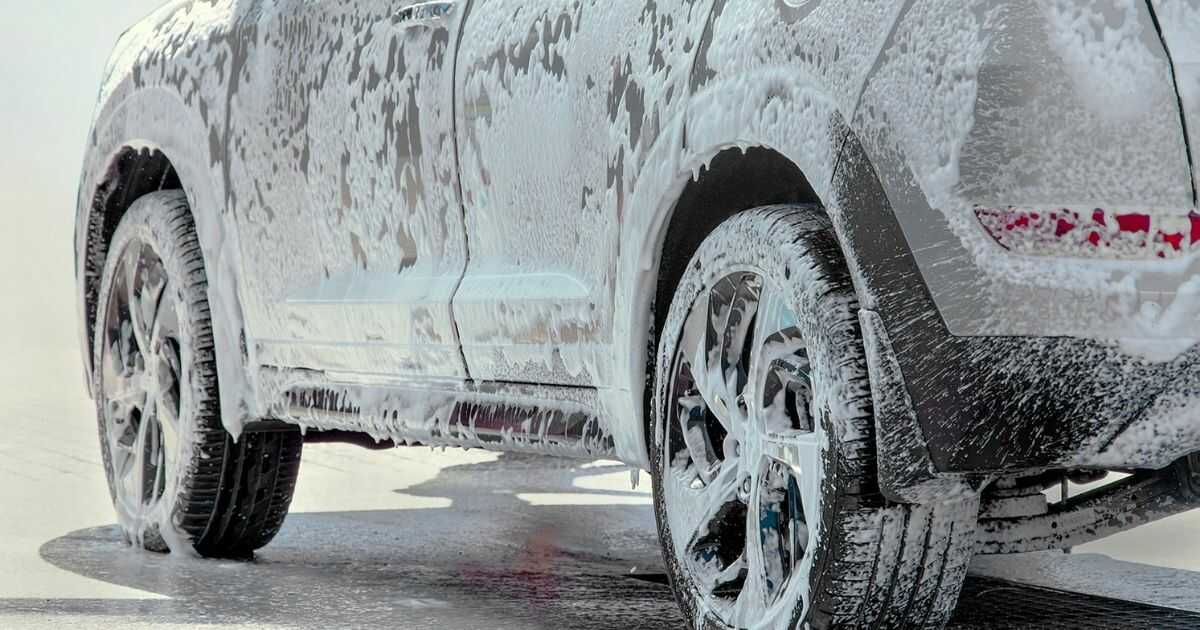 soapy outside of car